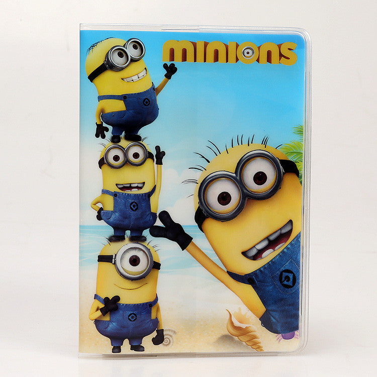 PVC Cartoon travel accessories passport Cover with size 5.5''*3.8''-Yellow people
