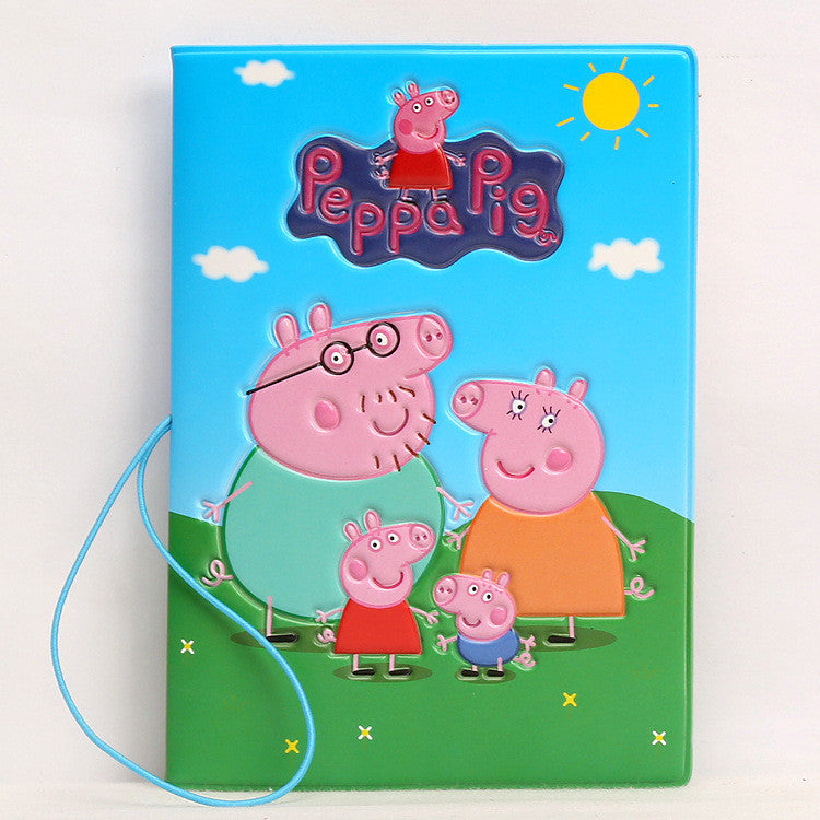 Hot Overseas travel accessories passport cover, luggage accessories passport card-peppapig