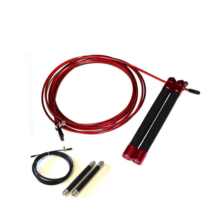 Red,Silver Speed Jump Rope Ball Bearing Metal Handle Skipping,Stainless Stel Cable Crossfit Fitness Equipment