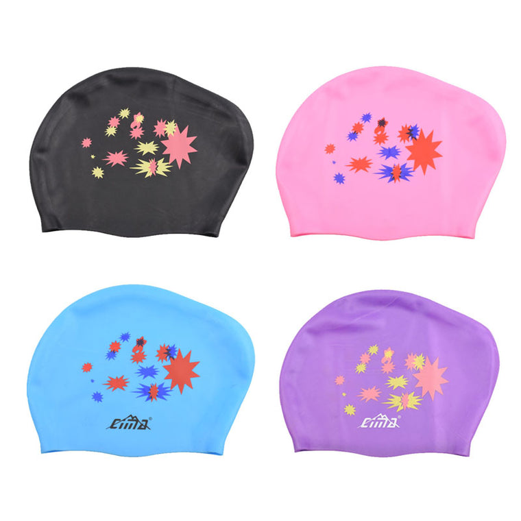 Women Swimming Cap for Long hair Rubber Silicone Waterproof petal Swim Pool Caps Professional Diving equipment Swimming Hat
