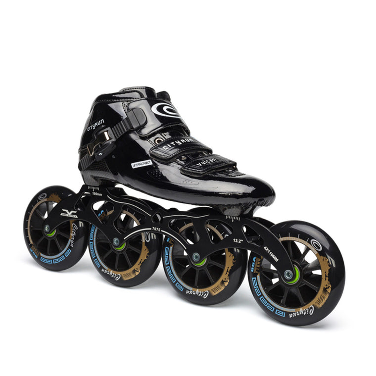 JEERKOOL Original Cityrun Professional Speed Inline Roller Skates for Kids Adult Carbon Fiber 4 Wheel Racing Speed Skating Shoes