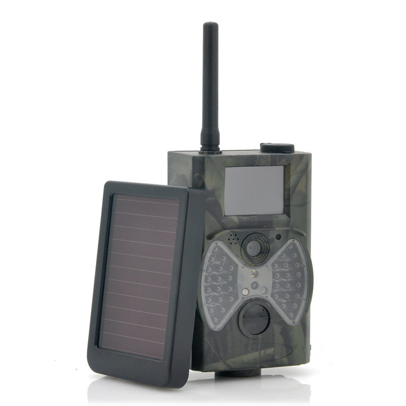 HC300M Scouting Hunting camera GPRS MMS Digital 940NM Black Infrared Trail Camera + Solar Panel Battery