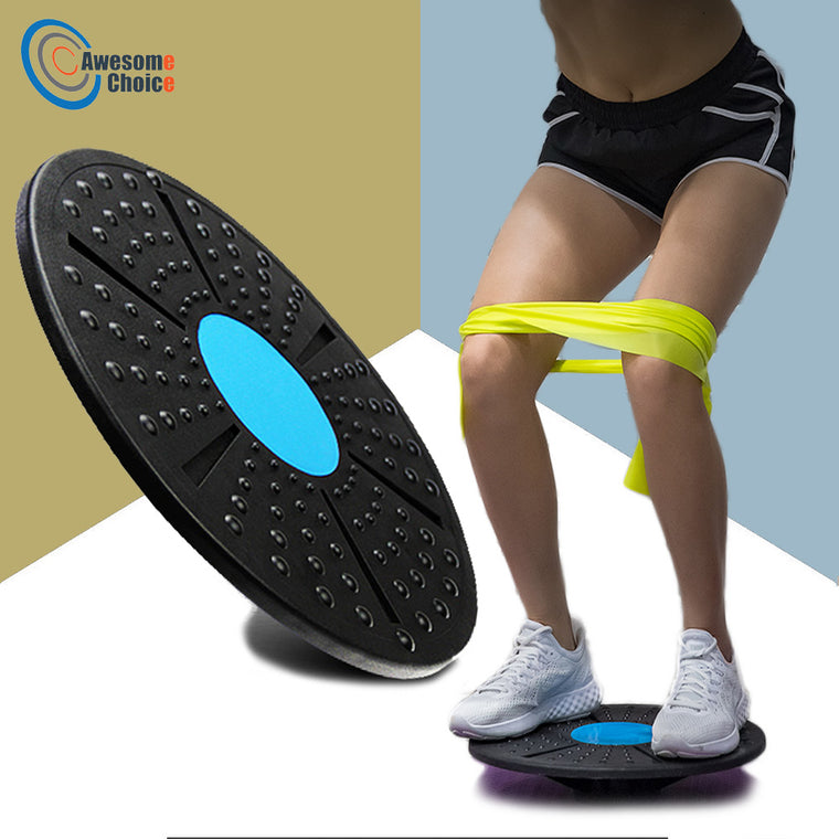 360 Degree Rotation Balance Board Massage Disc Plastic Round Plates Board Gym Waist Twisting exerciser Loading 150kg