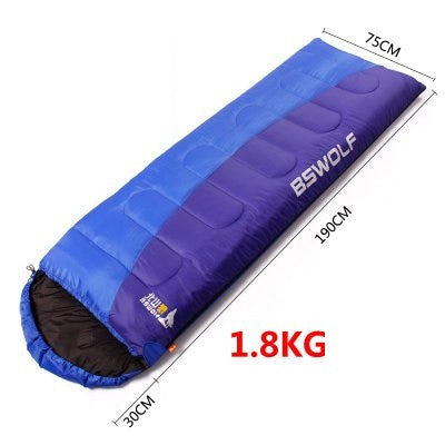 BSWolf ultralight cotton camping sleeping bag winter autumn envelope hooded outdoor goose down sleeping bags camping vacuum bed