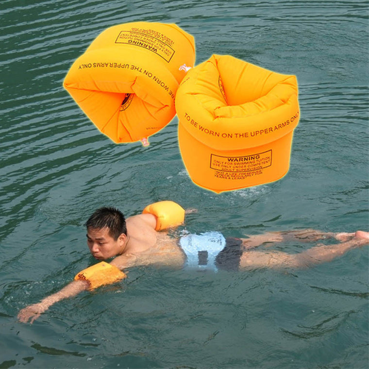 2Pcs PVC Men Women Adult Child Safety Training Inflatable Swim Pool Swimming Arm Ring Circle Float Water Air Sleeves for Kids