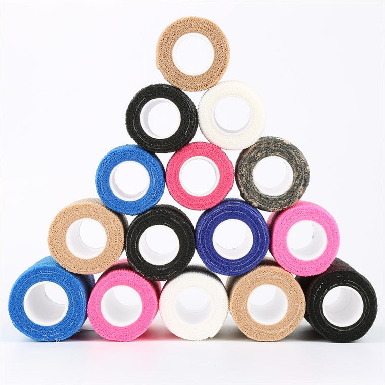 2.5cm*5m Self-Adhesive Elastic Bandage Health Care Tape First Aid Medical Treatment Gauze Tape