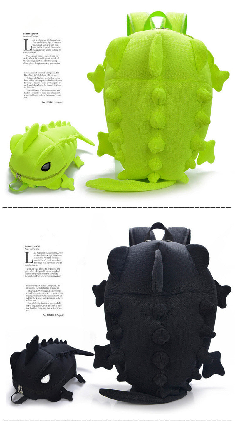 Cartoon Chameleon School Backpack Kids Dinosaur Backpacks for Children 3D animal Students bags Personality Girls Boys School Bag