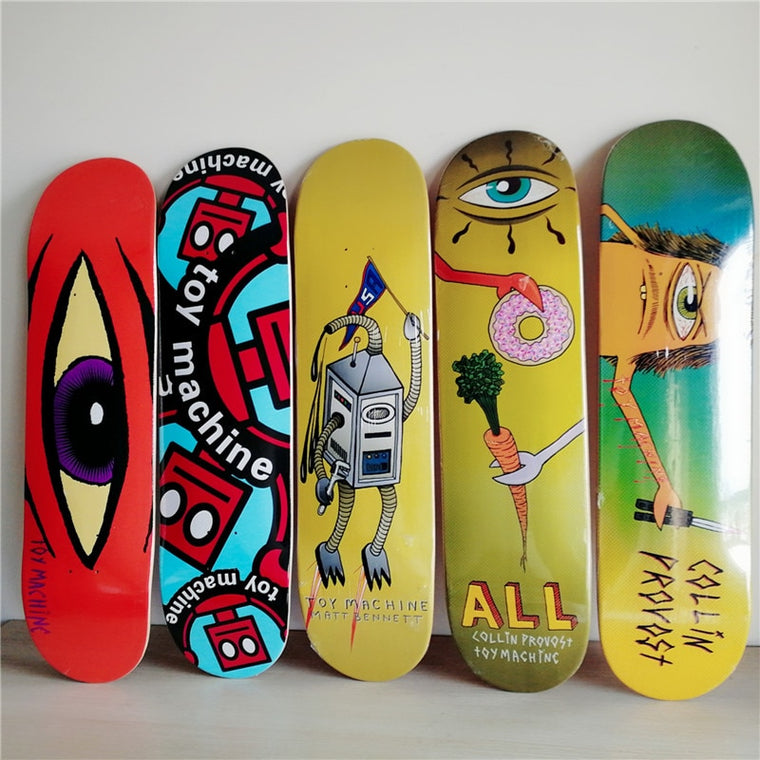 NEW ARRIVED USA BRAND Skateboard Deck 8 inch Canadian Maple 7 layers Double Rocker Skateboarding Decks Patins Skate