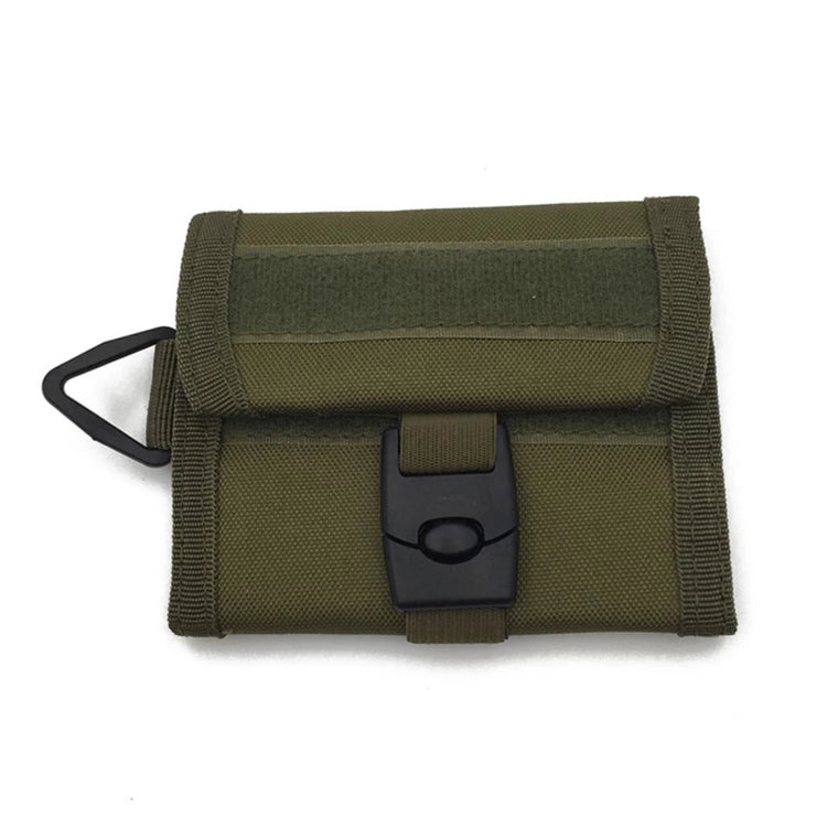 Men Outdoor Tactical 600D Nylon Wallet  Multifunction Waterproof Sports Purse Molle Card Pocket Key Hanging Bag Army