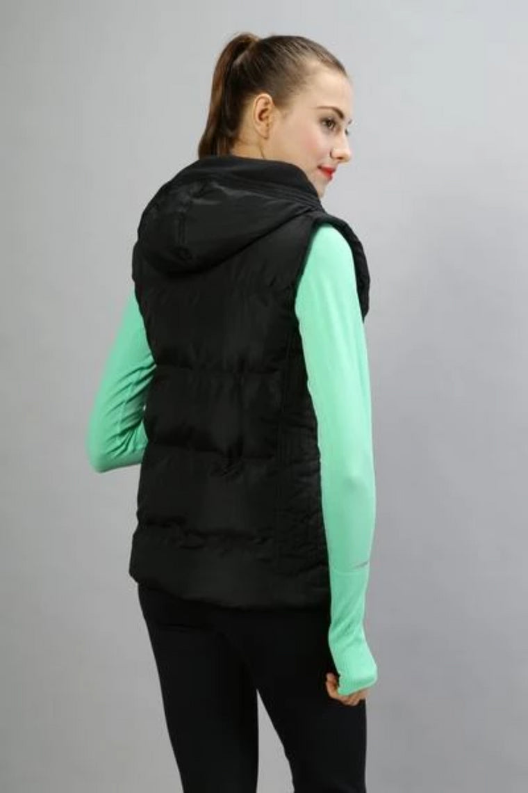 NWT woman Vest Top Quality Waterproof Winter Vest Sleeveless Waistcoat Vest Outdoor down jacket Keep Warm Coat with hood