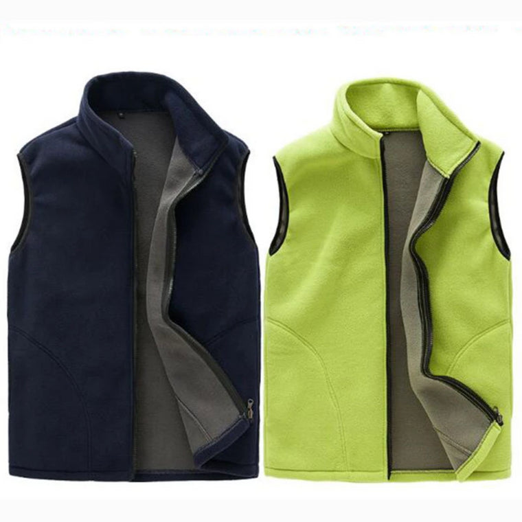 Outdoor Men Women Autumn Fleece Softshell Windproof Thermal Lining Vest Hiking Climbing Fishing Warm Sleeveless Jacket Waistcoat