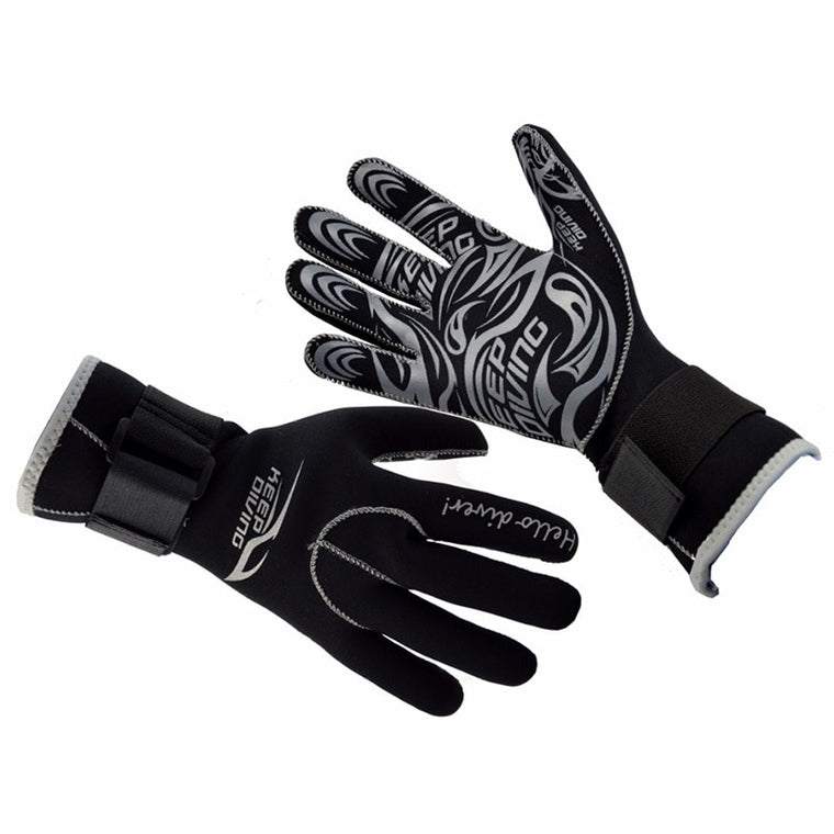 3MM Outdoor Neoprene Scuba Dive Gloves Snorkeling Equipment Anti Scratch Keep Warm Wetsuit Material Winter Swim Spearfishing