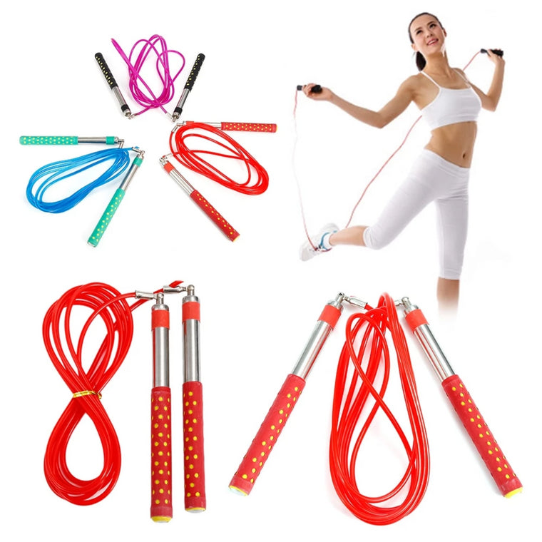 New Adjustable Crossfit Fast Speed Jump Rope Stainless Steel Handle Fitness Jump Rope Gym Rope Ball Bearing Jump Rode