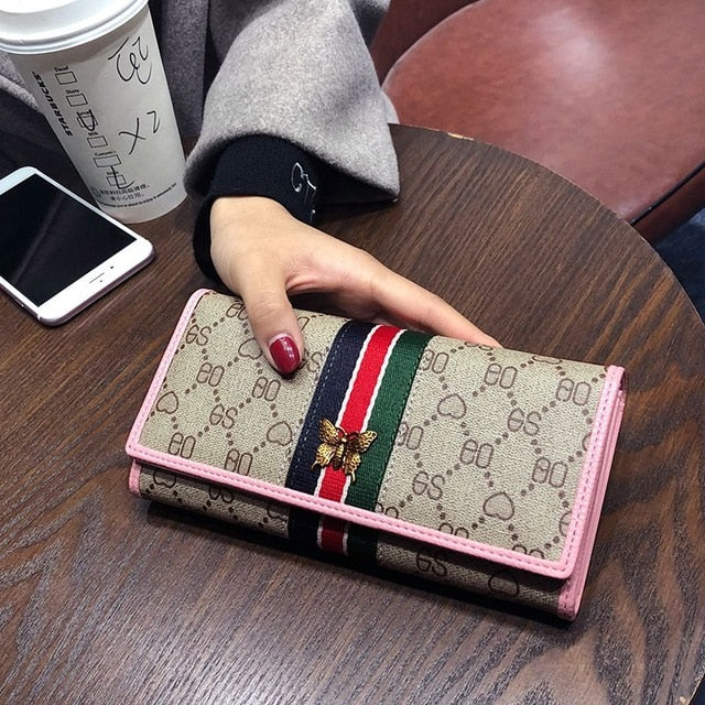 Lee Princess Female Wallet Vintage Long Clutch Bag Slim Large Capacity Ladies Purses Phone Pocket Card Holder Girls Wallet Women