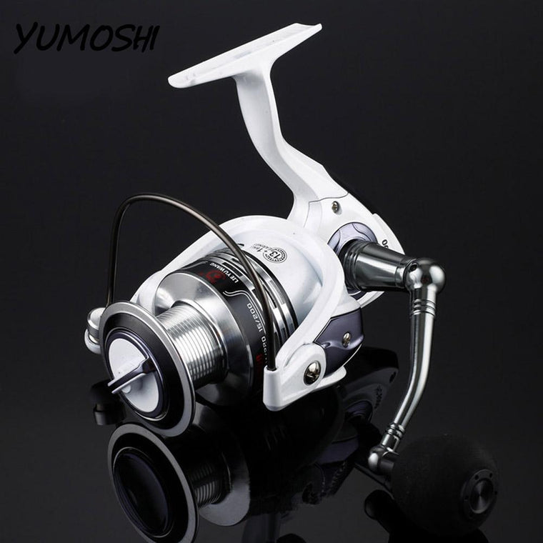 1PC 7 Type Pearl White Paint Left/Right Interchangeable All-Metal Spinning Fishing Reel Fish Wheel HC Series HC1000~HC7000