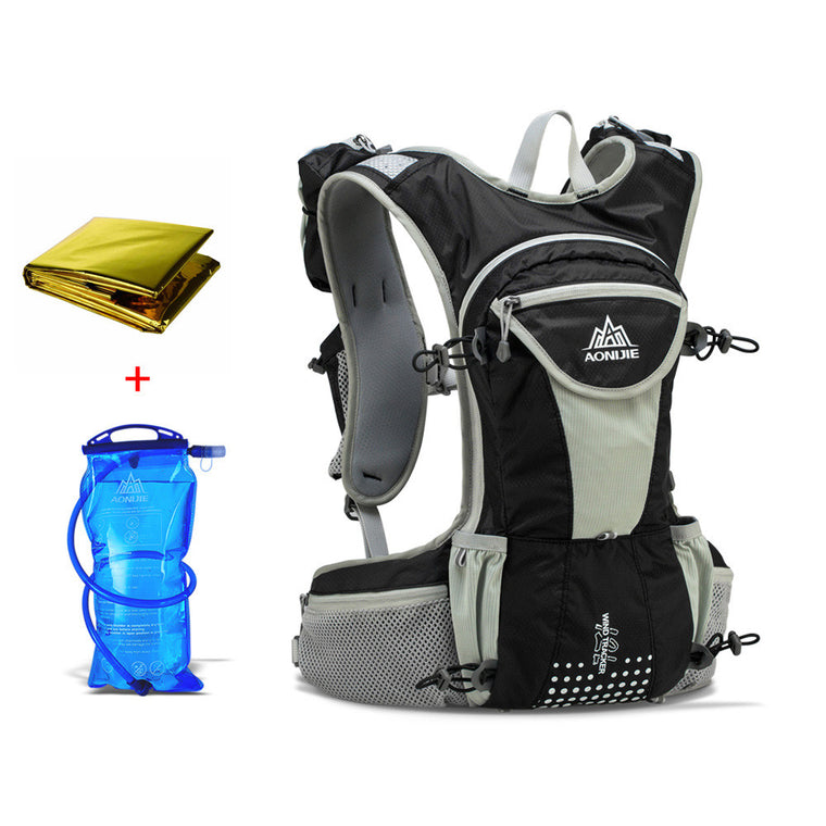 2L Hydration Bladder + Emergency Blanket Unisex Travel Bag Outdoor Mountaineering Backpack Hiking Camping Shoulder Bag
