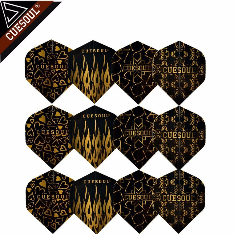 CUESOUL 12pcs 4 styles Professional Dart Flights For Soft Tip Darts And Steel Tip Darts
