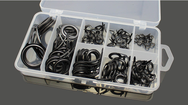 75 pcs Guide ring eye Ceramic stainless steel guide eyes plus boxed sets wire loop wire loop through the fishing rod accessories