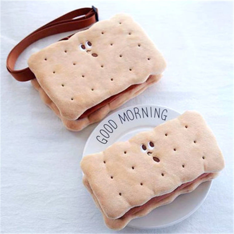 Blascher Harajuku Fun Cute And Fun Biscuits Model Children Shoulder Crossbody Bag Cookie Makeup Or Storage Bag For Children SQ35