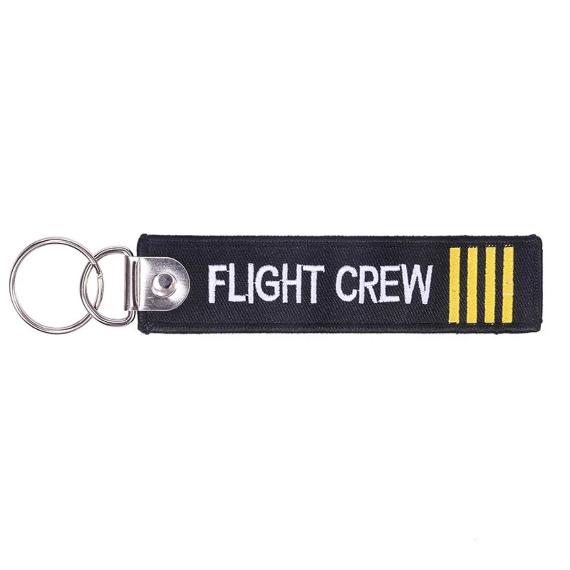 CLELO Flight crew Luggage tags Fashion Embroidery Bag tag with Keyring Key chain for Travel Luggage Label 3PC/LOT