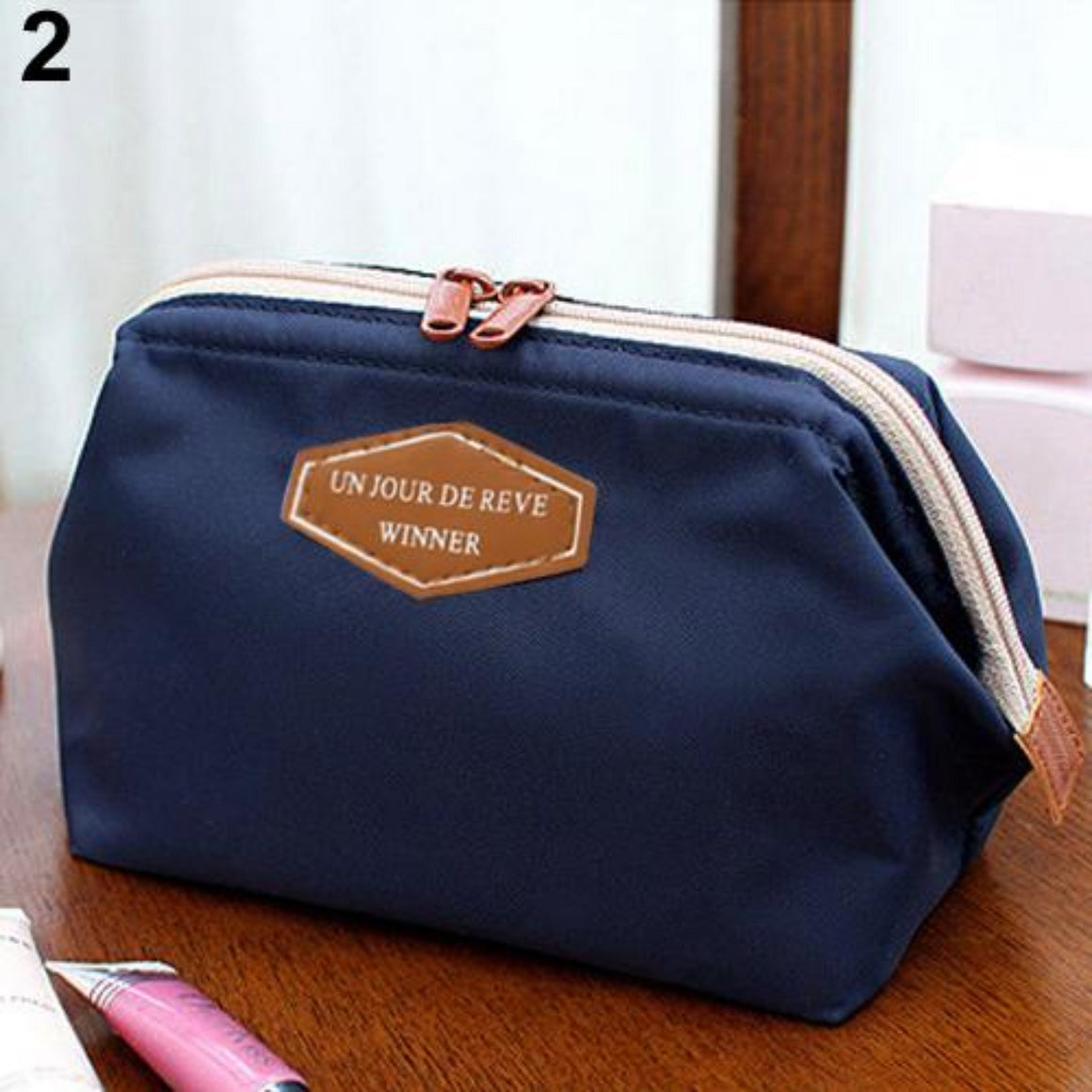Portable Cosmetic Organizer Beauty Travel Makeup Zipper Bag Case Toiletry Pouch