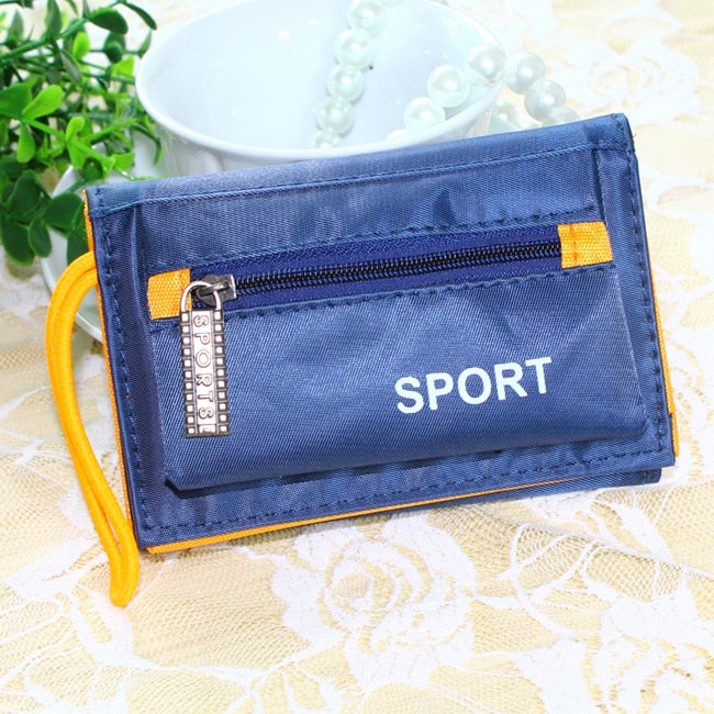 Men Wallets Short Design Brand Man Purses Handbags Money Bags Waterproof Canvas Male Coin Purse Clutch Wallet Burse Cards Holder