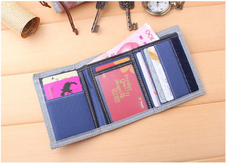 Fashion Male Purses Canvas Wallet ID Cards Holder Mens Short Wallets Fold Money Bags Zipper Change Coin Purse Pocket Notecase