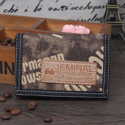Fashion Men Wallets Jeans Fabric Mans Purses Male Wallet Coin Purse Pocket Moneybags Cards ID Holder Student Wallet Notecase Bag