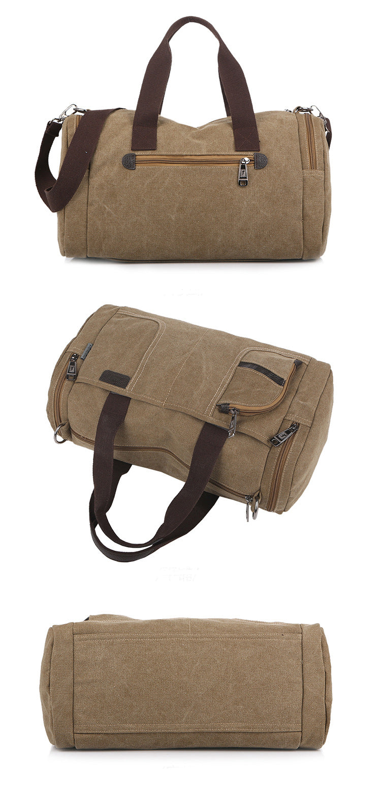 Men Shoulder Bag Handbag Vintage Solid Color Canvas Bag Fashion Casual Messenger Bags