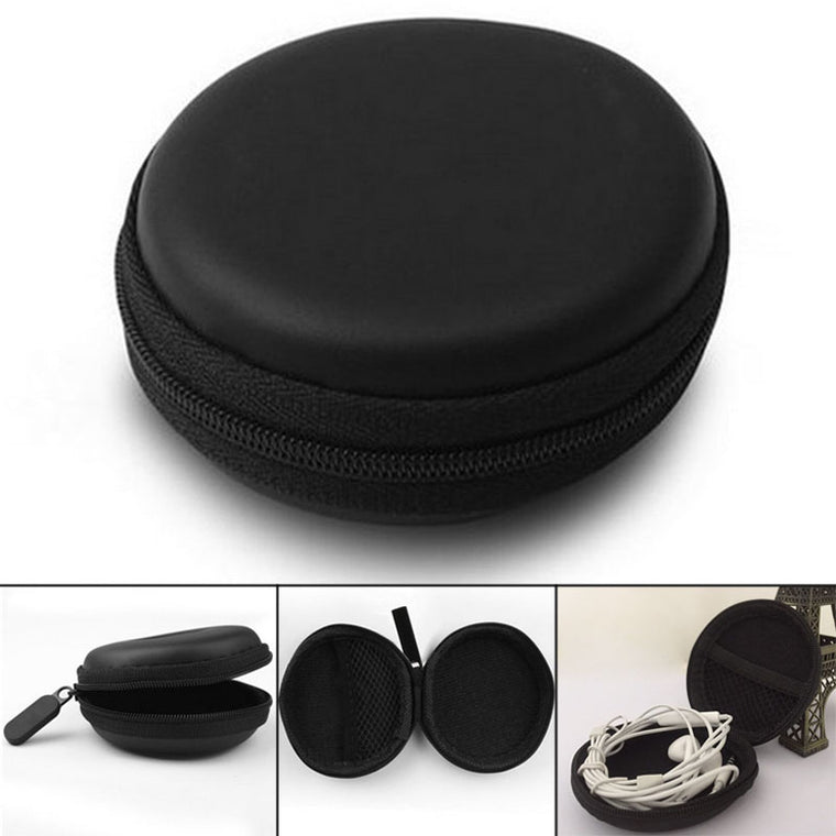 Portable Storage Coin Purse Container Organizer Earphone Wire Cables Case Box 8x3cm LXX9