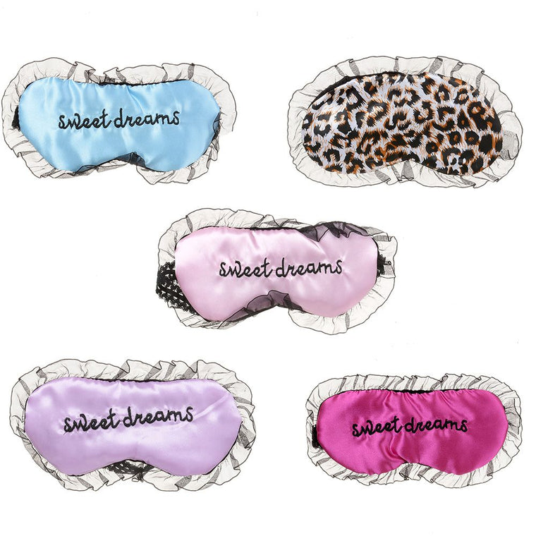 Travel Soft Silk Filled Sleeping Aids Eye Mask Cover Shade Blindfold Rest Shield Comfortable Travel Accessories