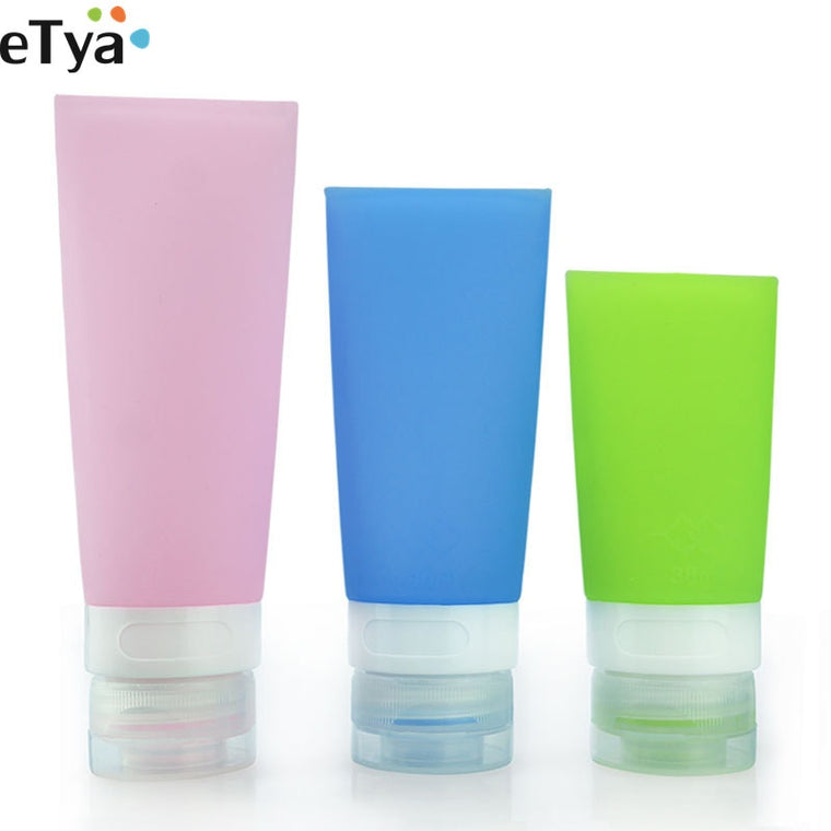 1PCS Fashion Women Men Travel Cosmetic Shampoo Bath Lotion Container Bottles Bag Candy Color Silicone