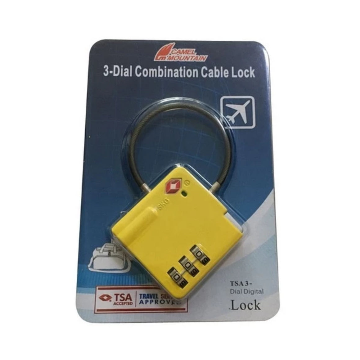 TSA Re-settable 3 Dial Combination Luggage Locks, Plastic Alloy Password Customs Luggage Lock, Combination Suitcase Lock Padlock
