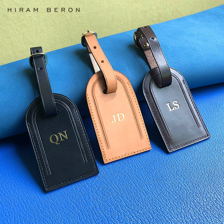 Personalized Custom Initial Luggage Tags Travel Accessories Suitcase Tag Business Bag Tags Vegetable Tanned Leather Travel Tag