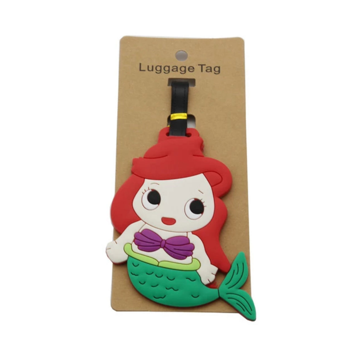 DEZEMIN Mermaid Luggage Tag Cute Suitcase Identifier