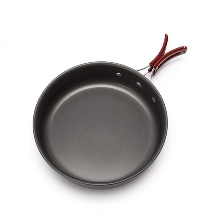 High quality Ultralight Camping Cookware Frying Pot outdoor tableware Picnic 2-3 Person Frying Pan Fry Pan Portable Single Pot