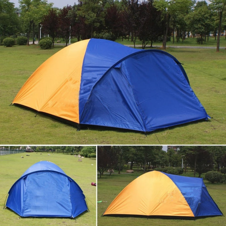 3-4 Person Separated Dual Layer Camping Tent 320x210x145cm Outdoor Waterproof Summer Tent for Hiking Fishing Travel Hunting