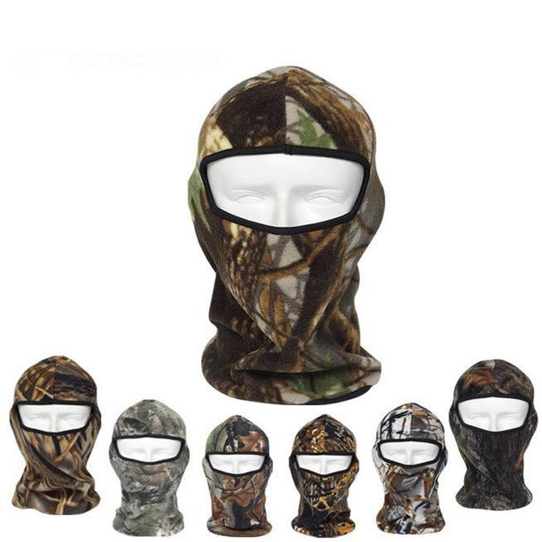 2019 Camo Thermal Fleece Balaclava Warm Winter  Hunting Fishing Cycling Ski Masks Hoods Hats Bicycle Motorcycle Full Face Mask