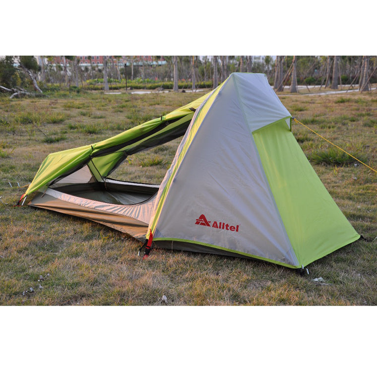 Alltel genuine ultra light outdoor camping mountaineering outdoor hiking double layer aluminium alloy rod single tent