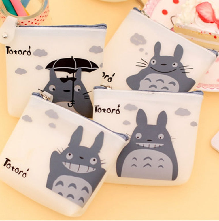 Cute Women Silicone Cartoon Totoro Coin Purse Wallet Pouch Case Bag Kids Bags Pouch Case Holder Bag 4 Types