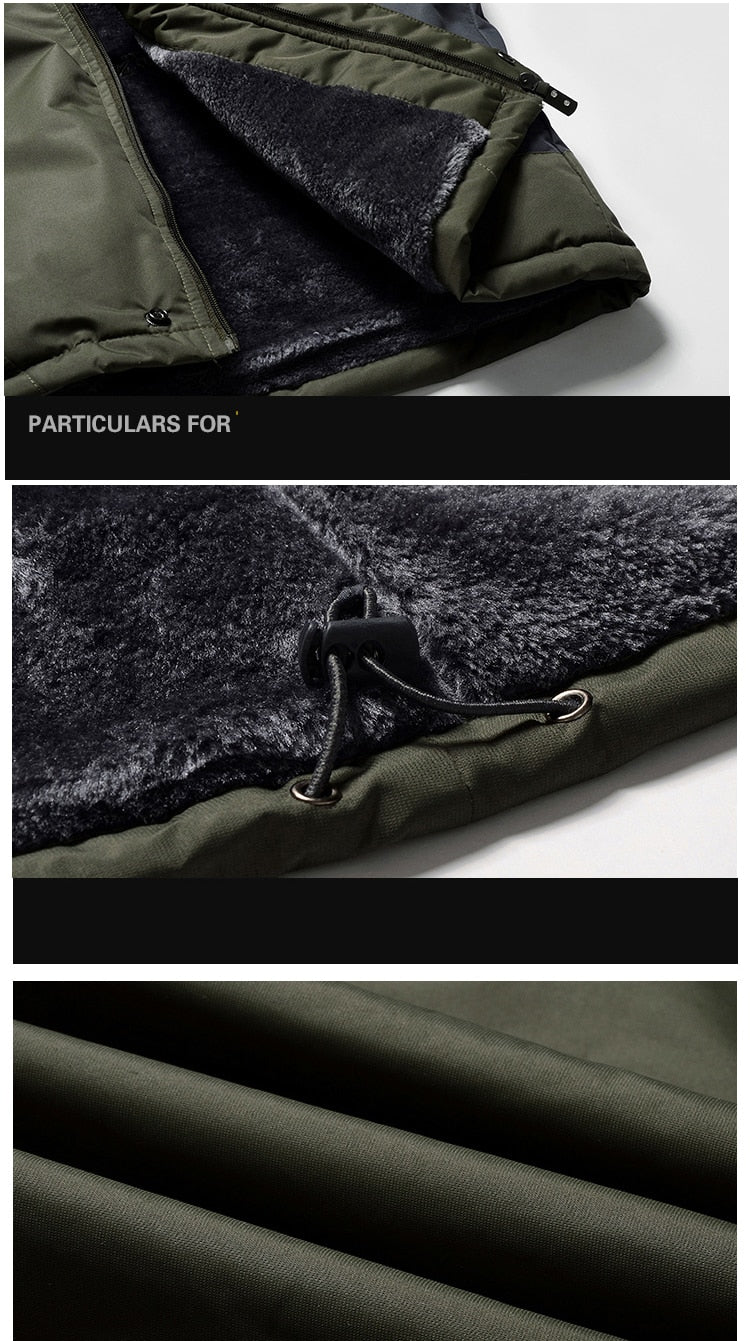 Winter Fleece Military Hiking Jackets Men Windproof Waterproof Outwear Parka Mens Windbreaker Army Raincoat Coat Overcoat