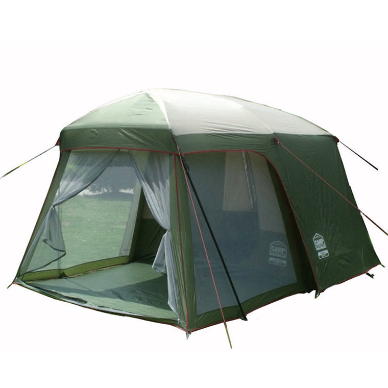 Double layer garden tent 3-4 person large family camping tent China Outdoor leisure 4 seasons tourist waterproof tents 2 rooms