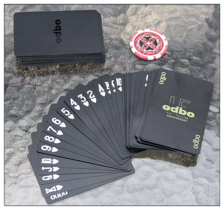 Waterproof  novelty plastic pvc poker cards pure Black color playing card as collection special poker set board game cards