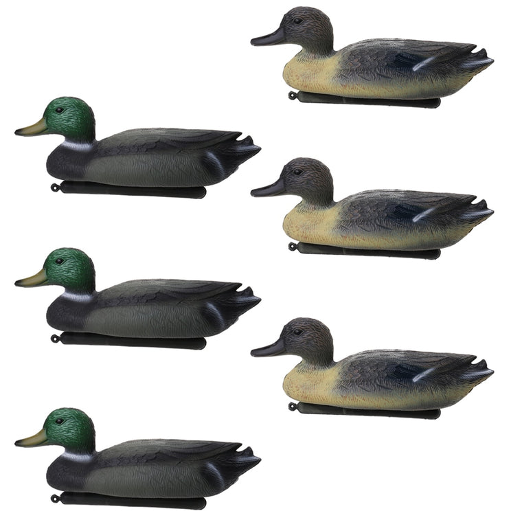 Perfeclan 6 Pcs DUCK DECOY Floating with Weighted Keel for Hunting Fishing Lifelike Plastic Duck Decoy Duck Decoy