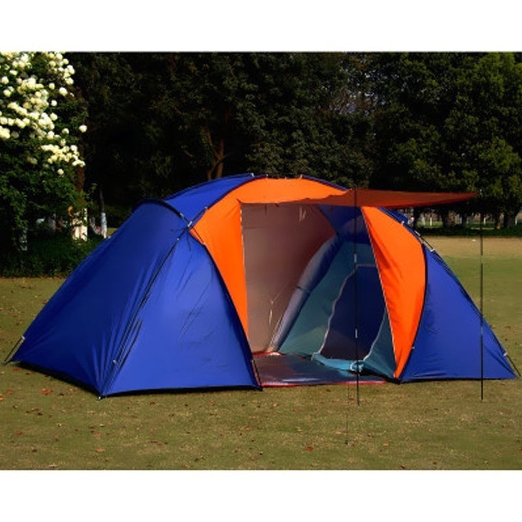 Big Tourist Tent 5-8 Person Double Layer Two Bedroom Outdoor Tent 420x220x175cm 3 Season Family Tent for Camping Hiking Fishing