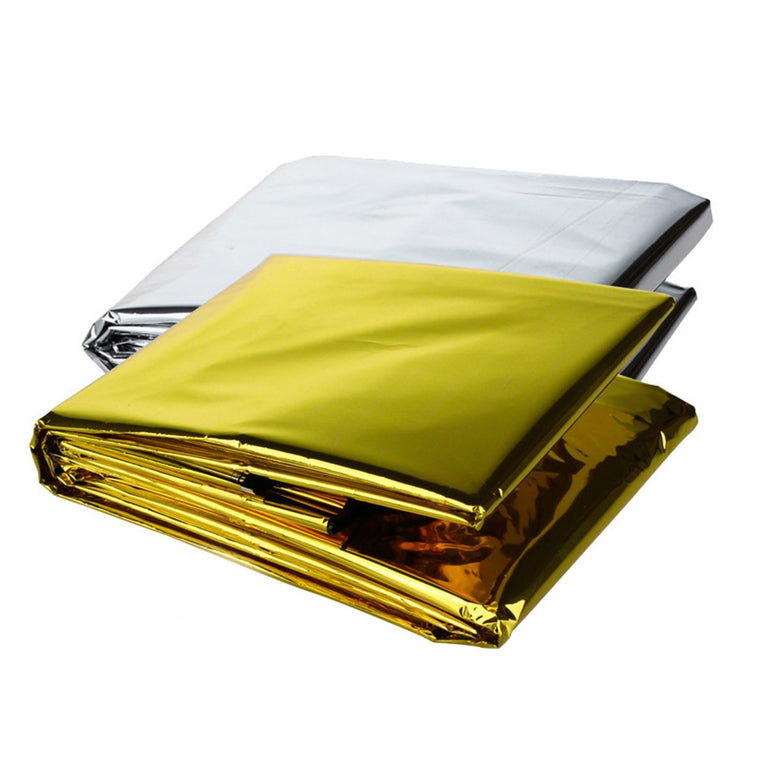 Outdoor Folding Emergency Blanket 210cm*130cm Silver/Gold Emergency Survival Shelter Outdoor Camping SOS Emergency blanket
