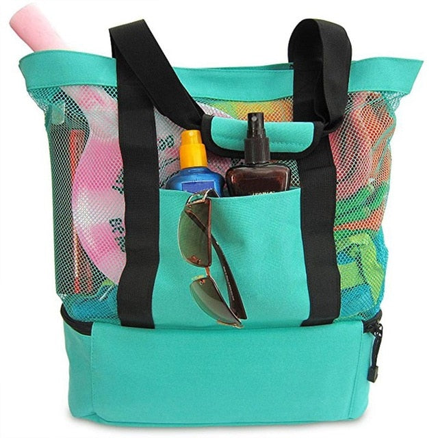 High Quality Portable Waterproof Durable Insulated Cooler Bag Food Picnic Beach Mesh Bags Outdoor Sports Camping Hiking Bags