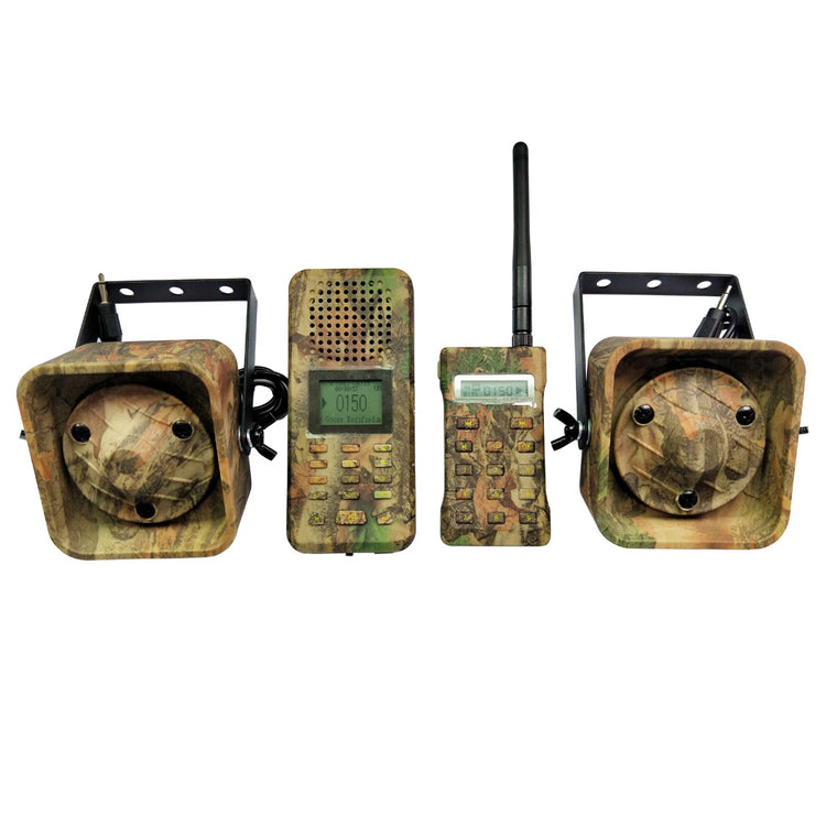 Camouflage Bird Caller Remote Control 2pcs 50w 150dB Loud Speaker Birds MP3 Player Amplifier Goose Duck Hunting Decoy