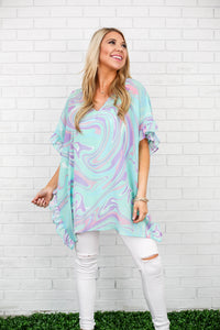 The Swirl Frilly Top- Feed The Kids Collection
