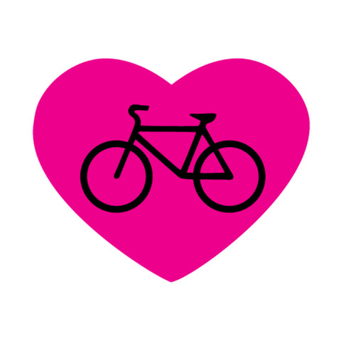 Pink Heart with Bike
